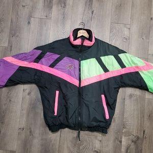 Vintage COLDWAVE Neon Snowmobile Jacket